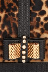 Christian Louboutin Sweet Charity Calf Hair And Leather Clutch in Animal (leopard) - Lyst