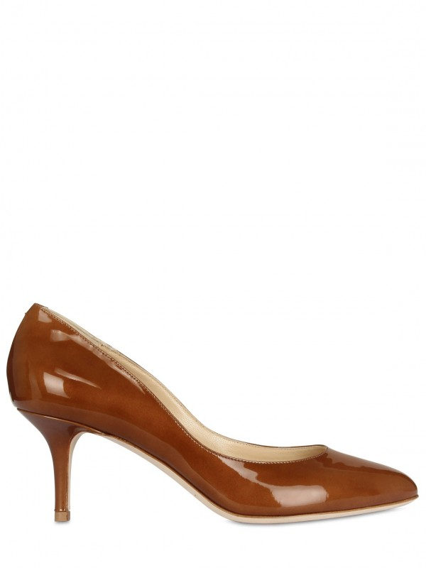 Lyst - Jimmy Choo 65mm Irena Metallic Patent Leather Pumps in Brown