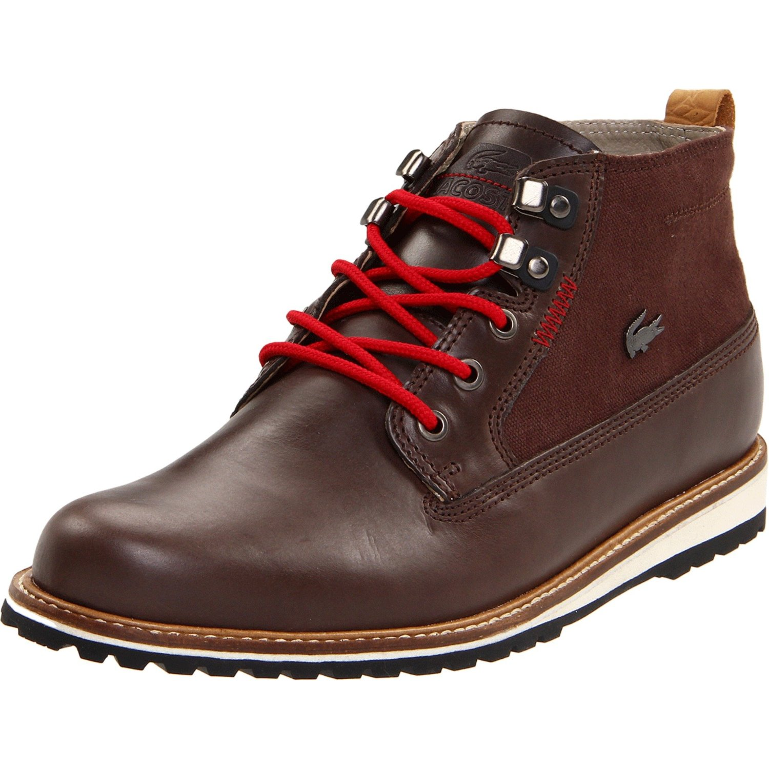 lacoste mens delevan lace up boot in brown for