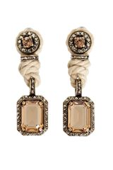 Lanvin Rope and Crystal Earrings