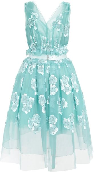 Marc Jacobs Sleeveless Organza Dress - Lyst