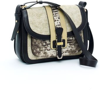 Michael Kors Saddle Bag, Ecru - Lyst