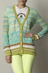 Missoni Cabala Cardigan in Green - Lyst