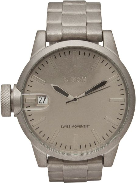 Nixon Chronicless Raw Steel Watch in Gray for Men (steel)