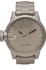 Nixon Chronicless Raw Steel Watch in Gray for Men (steel) - Lyst