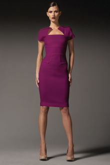 Roland Mouret Myrtha Folded Sheath Dress - Lyst