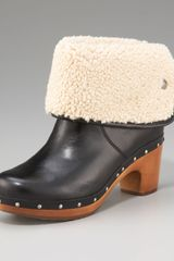 Ugg Lynnea Leather Stud-trim Boot - Lyst