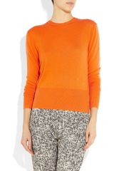 Acne Lia Fineknit Cashmere Sweater in Orange - Lyst
