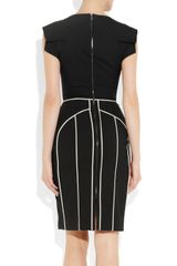 Antonio Berardi Paneled Wooltwill Pencil Dress in Black - Lyst