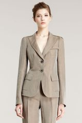 Armani Wheat Two-Button Jacket - Lyst