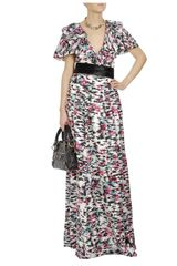 Balenciaga Printed Silk Twill Column Dress in Multicolor (multi) - Lyst