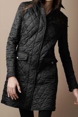 Burberry Brit Diamond Quilted Trench Coat - Lyst
