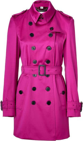 Burberry Magenta Pink Westland Trench Coat in Purple (magenta) - Lyst