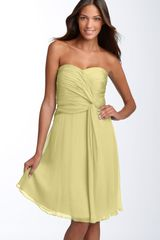 Donna Morgan Twist Detail Chiffon Dress in Yellow (afterglow) - Lyst
