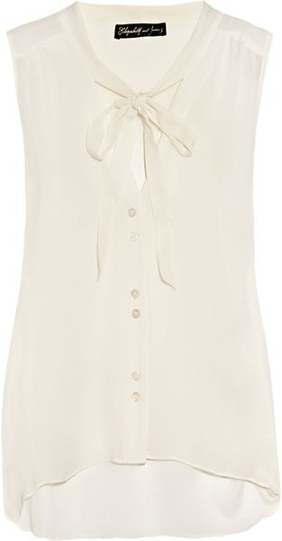 Elizabeth And James Jamie Silk-Chiffon Pussy-Bow Blouse - Lyst