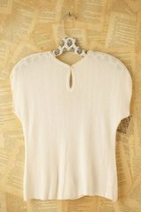 Free People Vintage Boucle Short Sleeve Top in Beige (white) - Lyst
