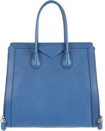 Givenchy Zip-trimmed Antigona Tote in Grained Vachetta Leather - Lyst