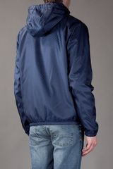 Gucci Hooded Jacket in Blue for Men - Lyst