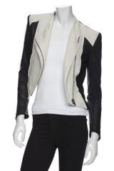 Helmut Lang  Ramie Combo Crop Jacket in Black (020) - Lyst