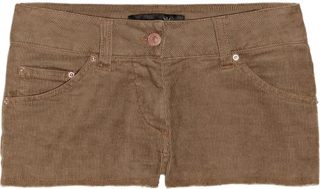 Isabel Marant Rooney Stretch-corduroy Shorts in Beige (brown) - Lyst