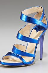 Jimmy Choo Gretchen Metallic Sandal - Lyst