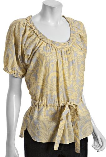 Kas Yellow Floral Print Cotton Jessie Tunic - Lyst