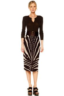 Michael Kors Zebra-Print Pencil Skirt - Lyst