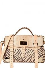 Mulberry Travel Printed Leather Pony Top Handle - Lyst
