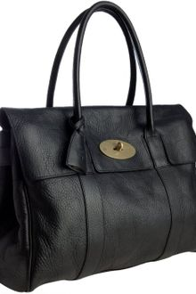 Mulberry Black Leather Bayswater Top Handle Bag - Lyst
