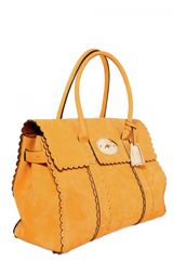 Mulberry Cookie Bayswater Smooth Leather Top Hand in Orange - Lyst