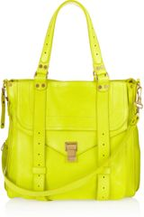 Proenza Schouler Ps1 Neon Leather Tote in Yellow - Lyst