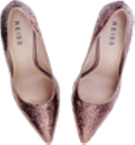 Reiss Sparkle Court in Gold (rose gold) - Lyst