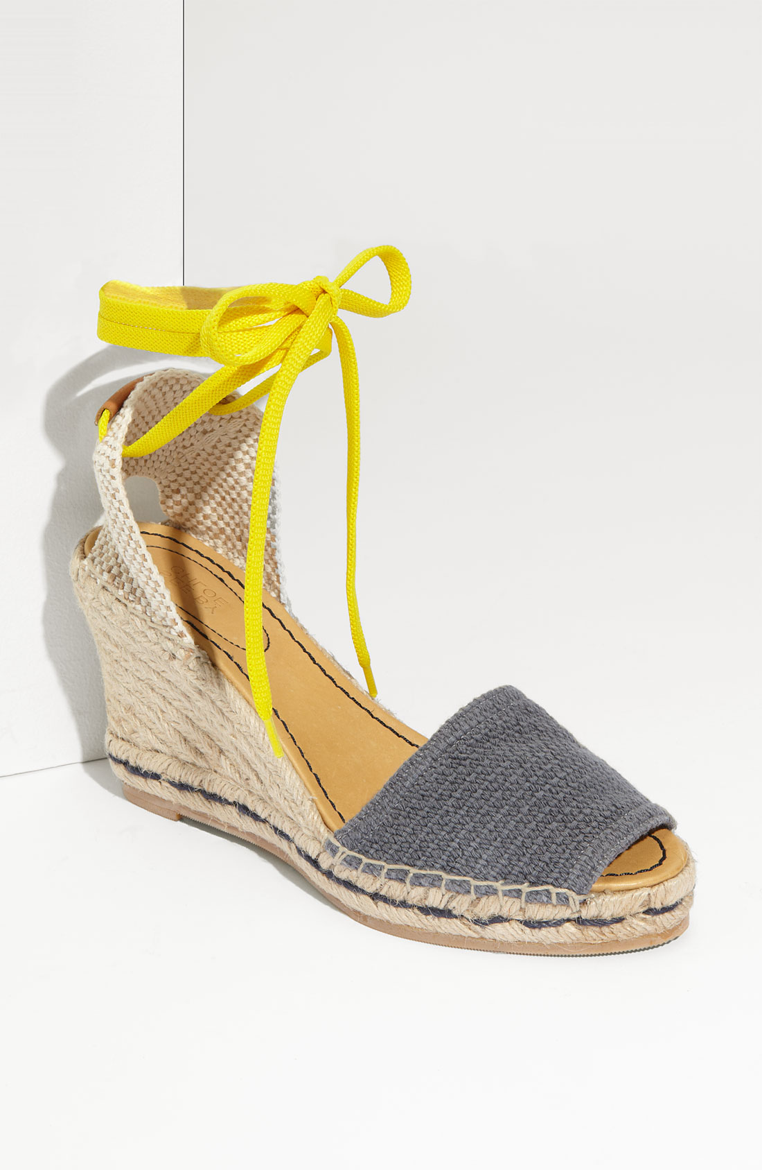 see by chlo 233 ankle tie espadrille in gray blue lyst