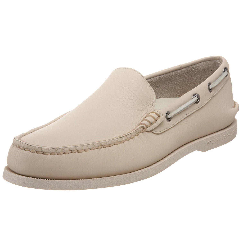 Women Sperry Top Sider Boat Shoe Cream Blue