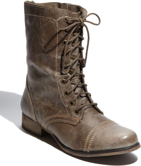 steve madden troopa boot in brown leather lyst