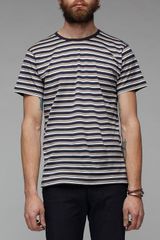 Sunspel Crew Neck T-shirt in Stripes - Lyst