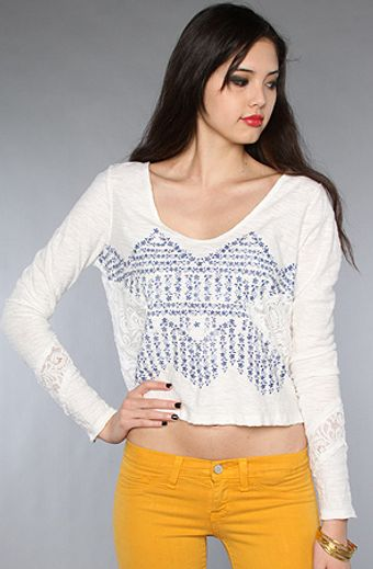 Free People The Flower Power Crop Top - Lyst