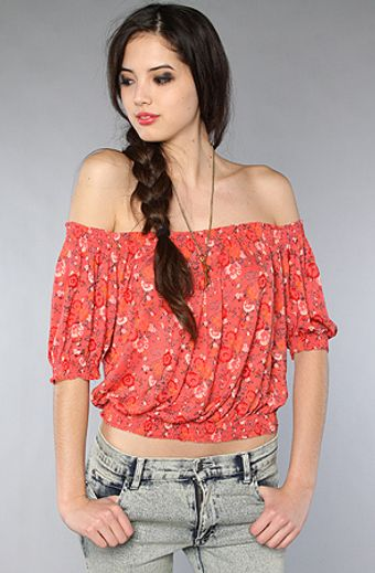 Free People The Printed Gypsy Crop Top in Hibiscus Combo - Lyst