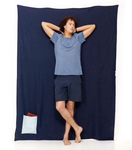 Travelteq Navy Blue Linen Towel in Blue for Men (navy)