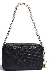 Versace Vanitas Embroidered Shoulder Bag in Black - Lyst