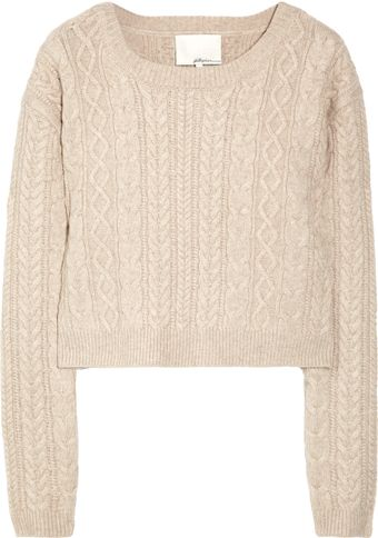 3.1 Phillip Lim Cropped Wool and Cashmere-blend Sweater - Lyst
