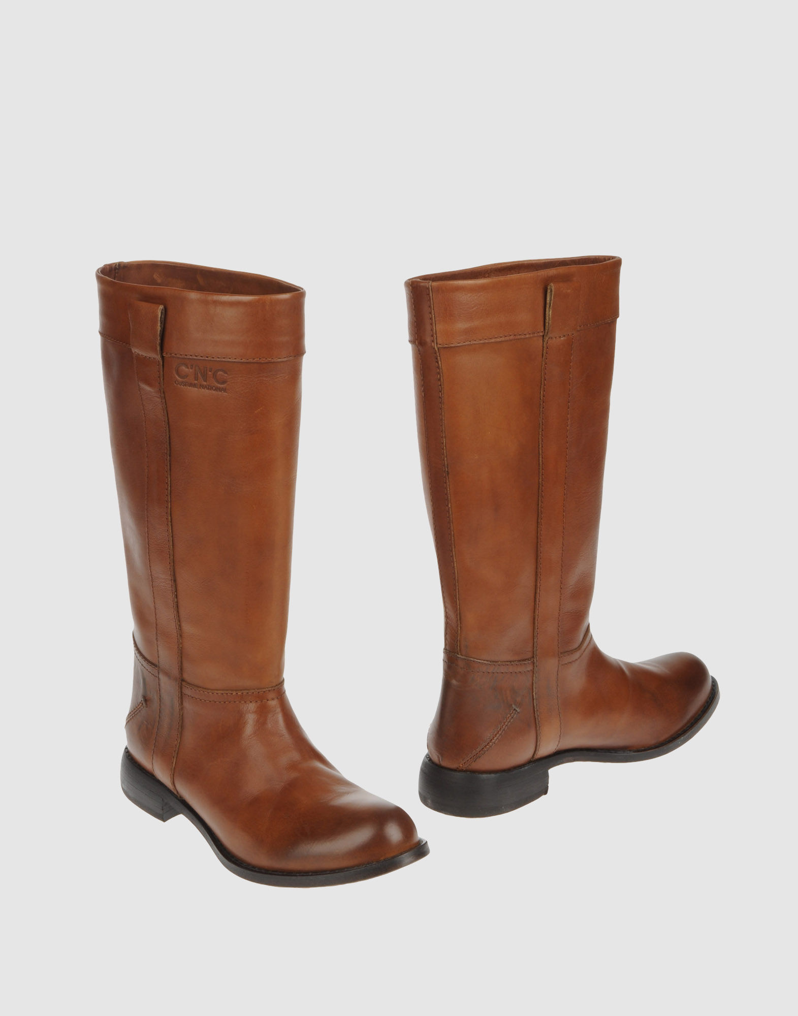 c n c costume national boots in brown lyst