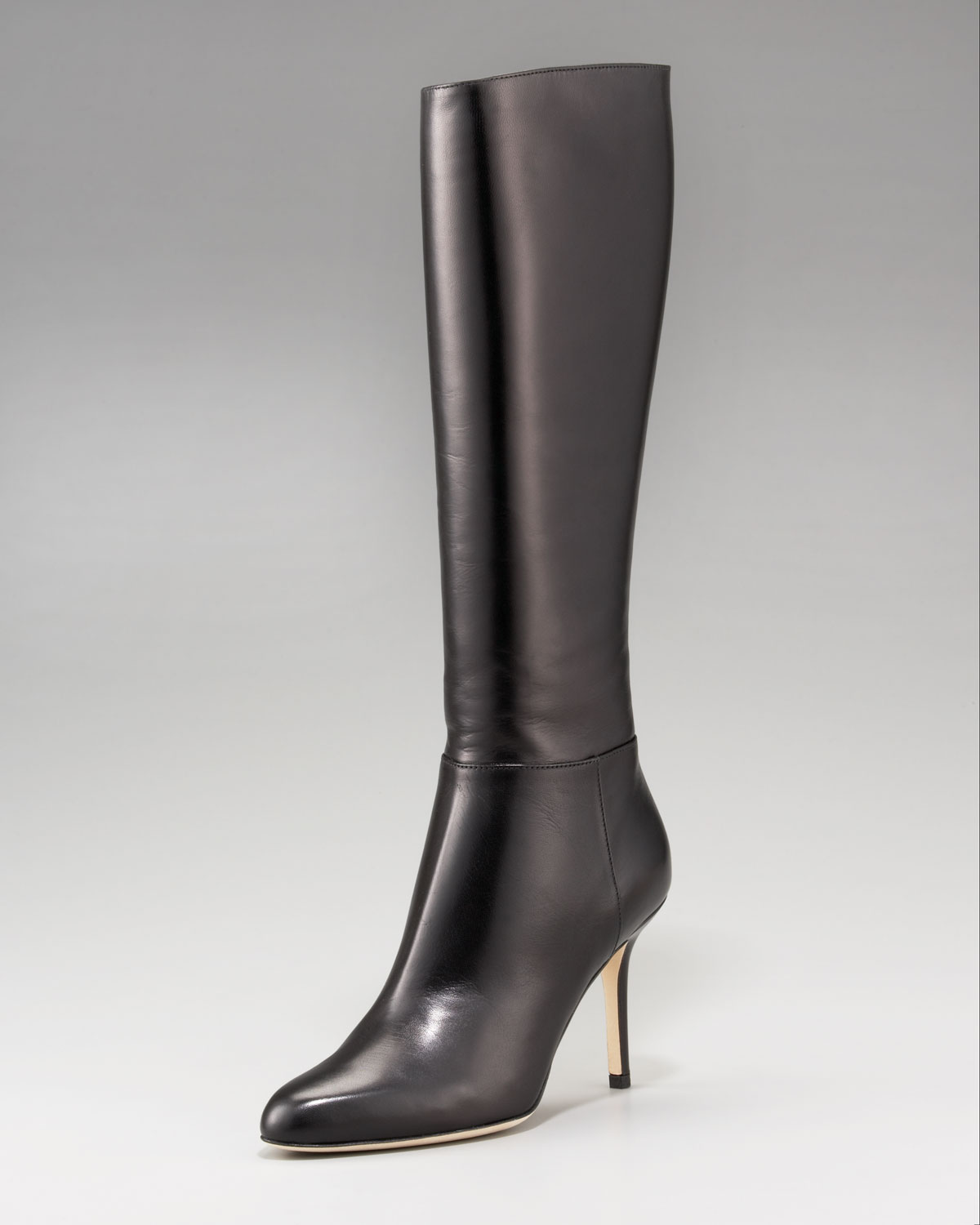 Jimmy Choo Kirby Fitted Leather Boot in Brown | Lyst