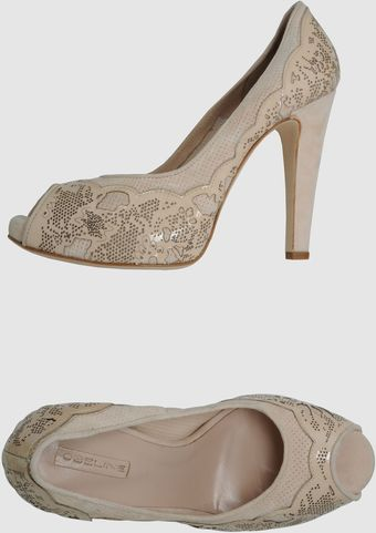Obeline Pumps with Open Toe - Lyst