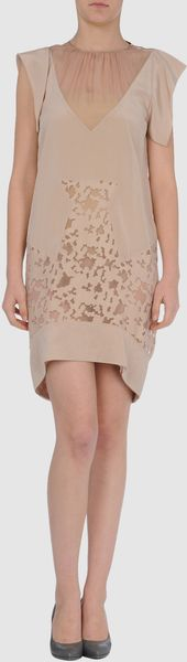 Vionnet Short Dress in Pink - Lyst