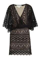 Beyond Vintage Dolman-sleeve Lace Dress - Lyst
