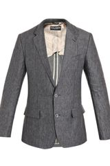 Dolce & Gabbana Two Buttoned Linen Jacket - Lyst