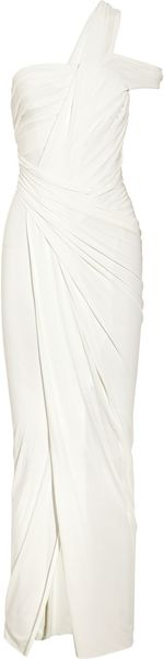 Donna Karan New York Draped Stretch Crepe-jersey Gown - Lyst