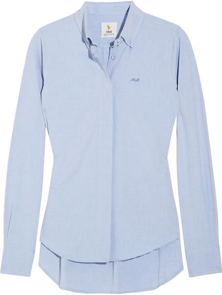 Mih Jeans Cotton Shirt in Blue - Lyst