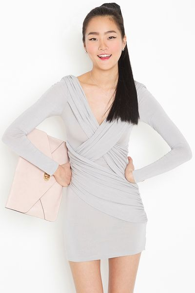 Nasty Gal Downtown Dress in Gray (silver) - Lyst